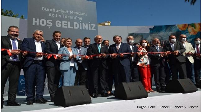 CHP Genel Başkanı Kılıçdaroğlu, Çeşme'de Cumhuriyet Meydanı Açılış Törenine Katıldı