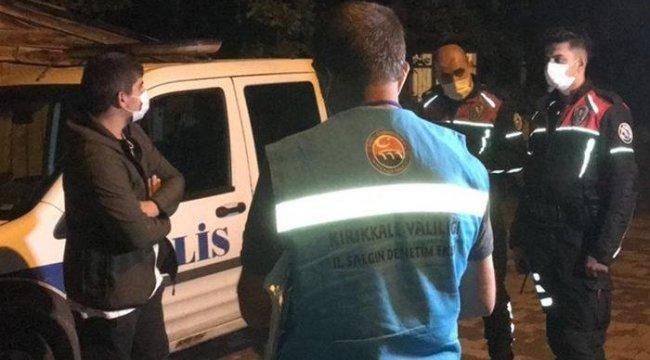 Kırıkkale'de PCR testi pozitif çıkan kişi, sokağa çıkınca polise yakalandı