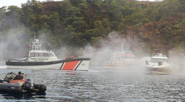 Muğla'da lüks teknede yangın